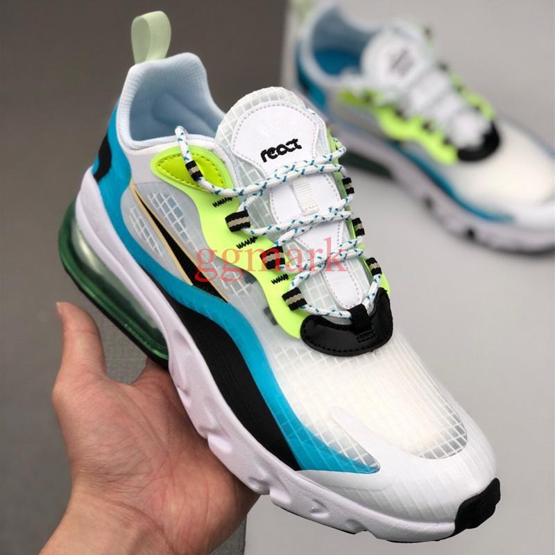 Nuevo llegan los zapatos de diseño para hombre de las mujeres reaccionan de los zapatos corrientes del paquete de burbuja de humo gris Multi transpirable zapatos casual Deporte Formadores 27C zapatillas de deporte