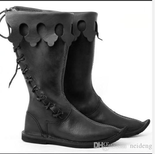 حار بيع هالوين جديد أحذية الرجال الكبار الحجم US13 أزياء فخمة للدراجات النارية الأحذية تأثيري أحذية الرجال هدية Chirstmas الثلوج في فصل الشتاء التمهيد