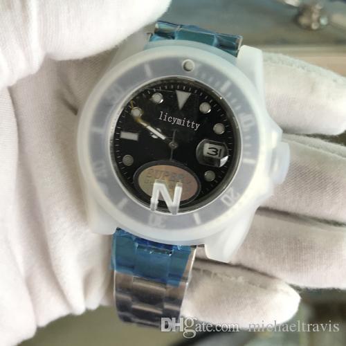 2020 Neue Männer Uhren Top V3 Version ETA 2813 Armbanduhr 50M wasserdicht Sapphire Keramik-Lünette Glide Lock-Edelstahl ST9 Massiv Schlösse