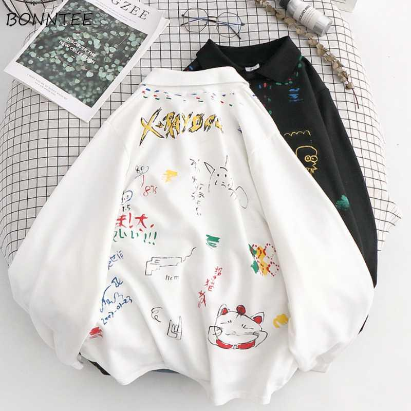 Hoodies Mulheres New Harajuku Impresso na moda Branco Hoodie Roupa coreana das mulheres engraçadas Chic Primavera doce High Street Meninas Tops 2020