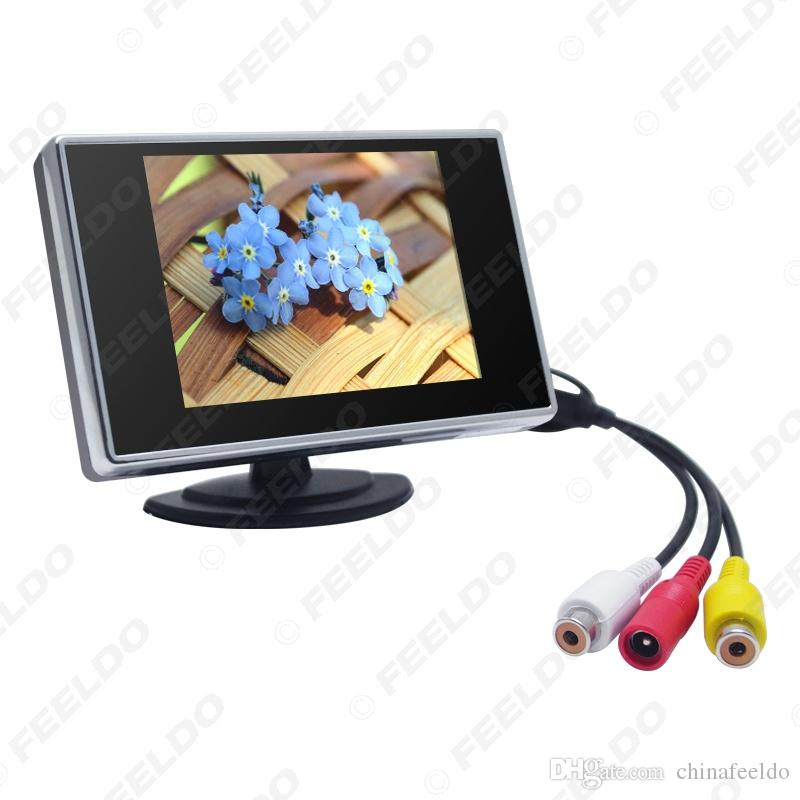 """Car Digital 3.5"""" TFT LCD Stand-alone Reverse Car Monitor for DVD VCR VCD Backup Camera #1308"""