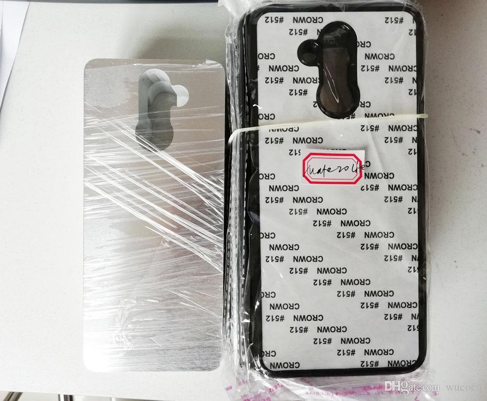 жесткий пластиковый корпус для Huawei P8 P9 P10 P20 P30 PRO / Honor 10 lite / Nova 2 3 4i сублимационный корпус + пустая металлическая пластина из лауминия 100 шт.