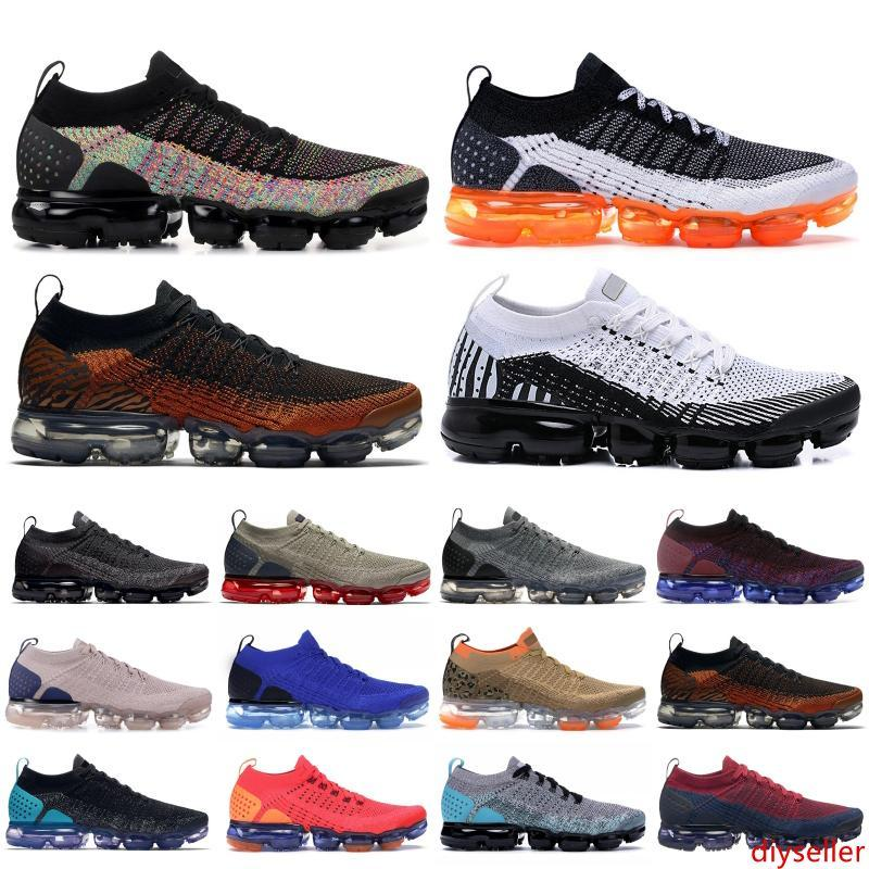 CYN 2019 Triple Black Knite 2.0 Designer Shoes White Black Multi-Color Pure Platinum Univetsity Red Running Shoes For Men Women Trainers