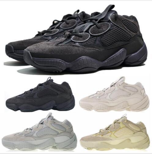 2020 Новая Волна Соль Runner 500 Blush Desert Rat 500 Супер Луна Желтые кроссовки Kanye West Мужские Женские кроссовки Спортивная обувь