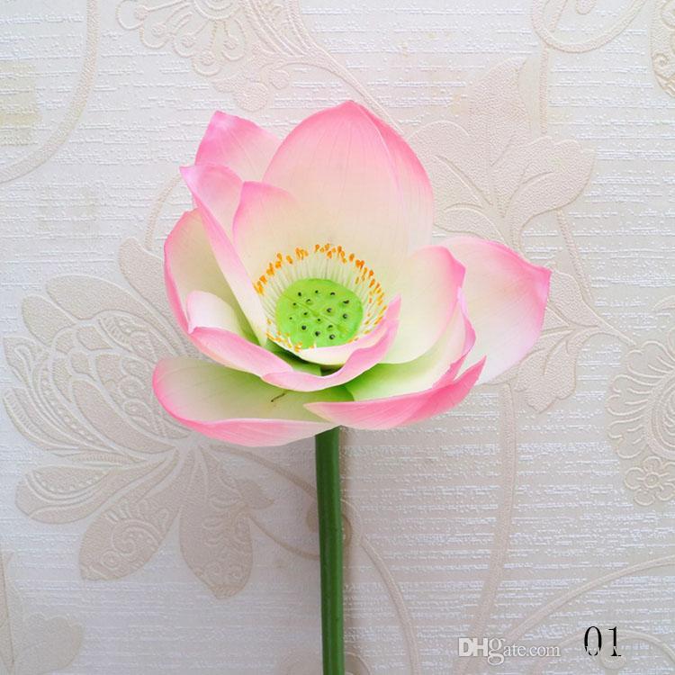 Yiwu Toptan Gerçek Dokunmatik Lotus seedpod enshrine Çiçekler Su geçirmez Aquatic Simülasyon Lotus Çiçekleri İçin Bahçe Gölet Düğün Dekorasyon