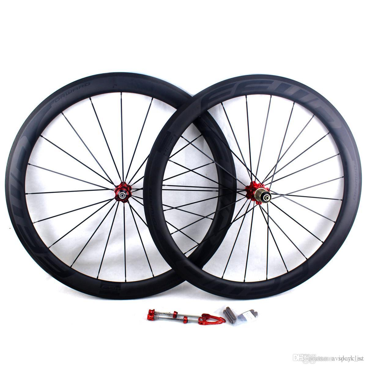 carbon fiber bike road wheels 50mm FFWD F5R BOB basalt brake surface clincher tubular road bicycle racing wheelset rim width 25mm UD matt