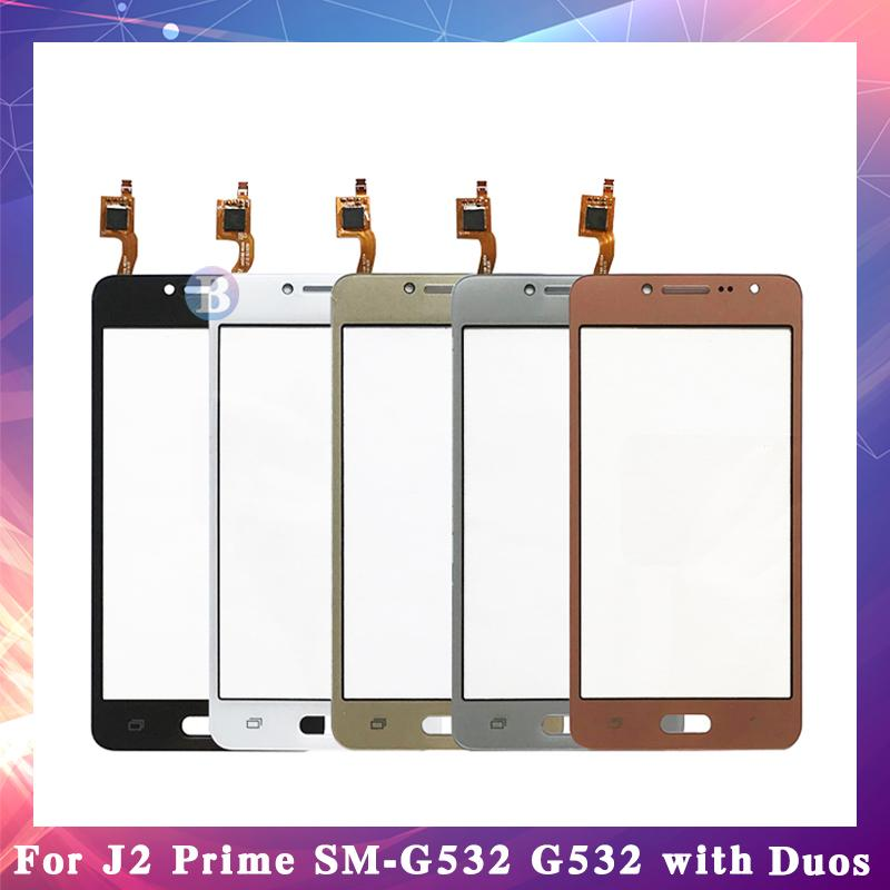 "50 Unids Alta Calidad 5.0 ""Para Samsung Galaxy J2 Prime Duos SM-G532 G532 Sensor de Pantalla Táctil Digitalizador Panel de Lente de Cristal Exterior"