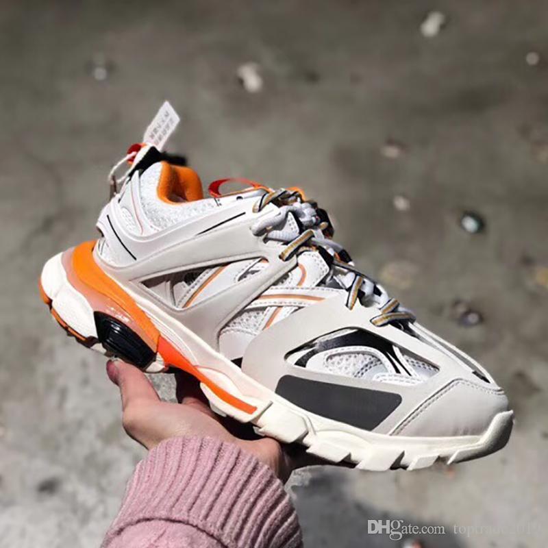 Hombres Mujeres zapatillas Track 3.0 de la venta caliente y transpirable Formadores Casual Plataforma Encaje zapatos zapatilla de deporte al aire libre Pareja mayorista