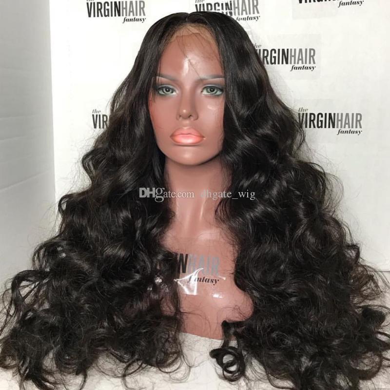 Personalizadas 10A Pelucas para el cabello humano para las mujeres negras Brailini Bignoin Big Bodywave Woodwave pelucas de encaje completo y pelucas delanteras de encaje