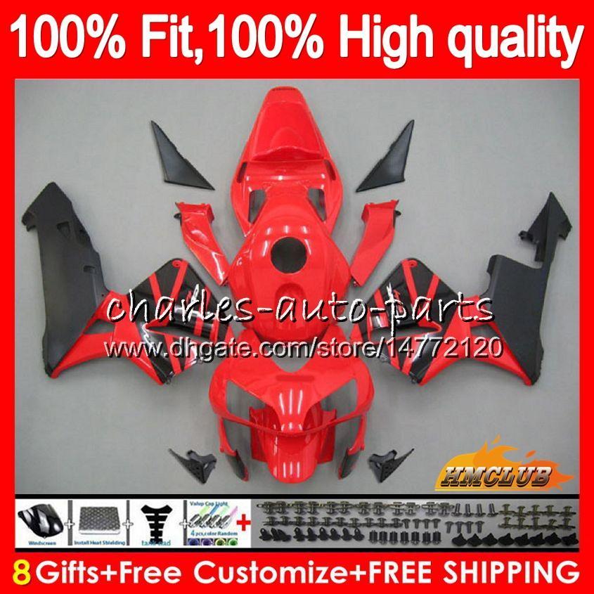 Injection OEM dla Honda CBR 600RR 600F5 CBR600F5 CBR600 RR 03 81HC.2 Czerwona fabryka Hot CBR600RR CBR 600 RR F5 03 04 2003 2004 100% Fit Wishing