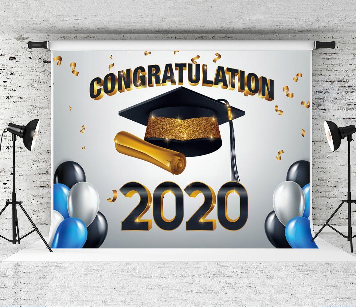 2020 laurea Sfondo palloncini Laurea fotografici Cap Decor Congratulazioni background laurea Foto Sfondi per studenti Prom