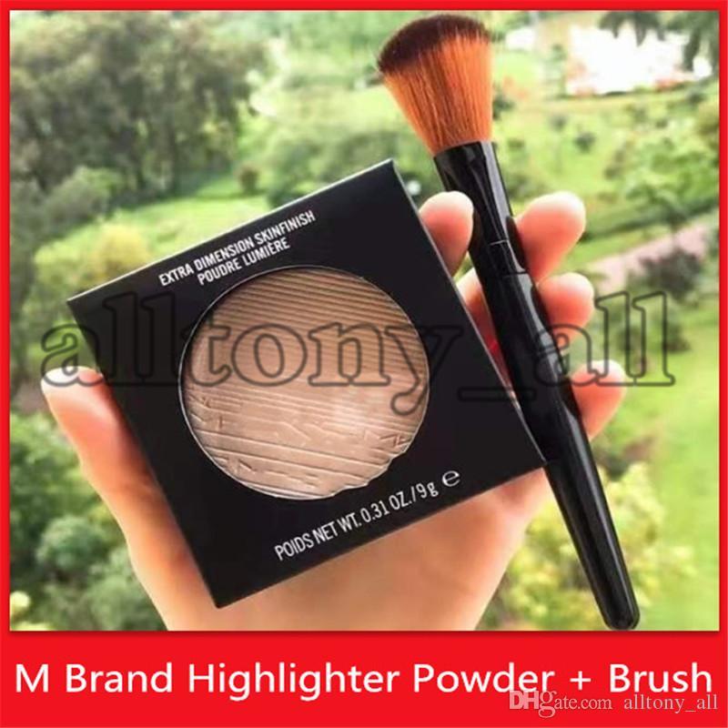 Haute Qualité M Marque Maquillage Highlighters avec brosse de maquillage Dimension extra-dimension Poudre Lumiere avec DHL Shipping