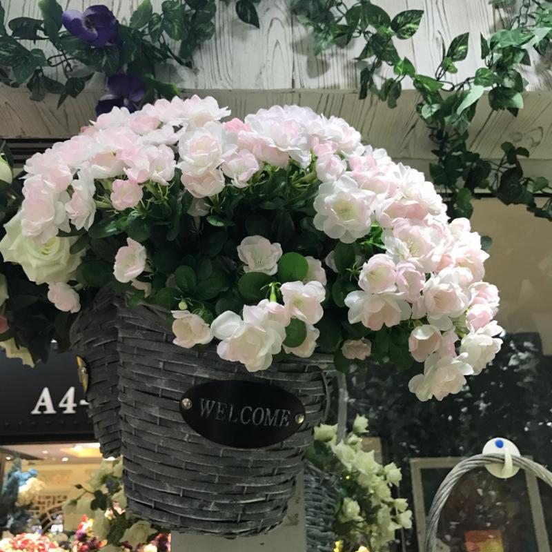 9 horquilla flores de simulación valla flor flores de jazmín gardenia hibisco decoración del hogar de la boda del envío