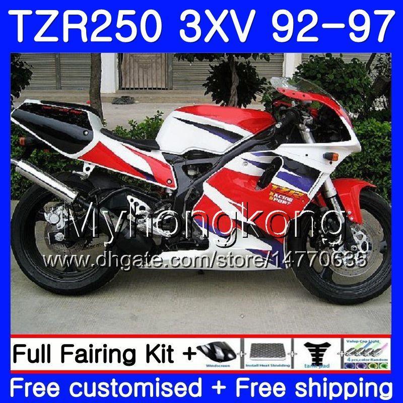 키트 YAMAHA TZR 250 3XV YPVS TZR-250 92 93 94 95 96 97 245HM.14 TZR250RR RS TZR250 공장 레드 맨 1992 1993 1994 1995 1996 1997 페어링