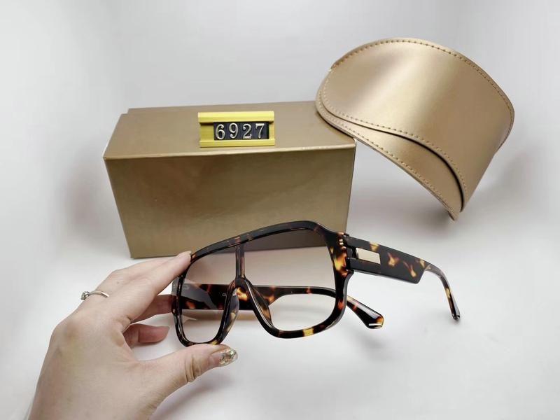 Tasarımcı Lüks Erkek Bayan Marka Boy Siyah Güneş Gözlüğü Moda Oval Güneş Gözlükleri UV Koruma Lens Kaplama Kaplama Çerçeve Kutusu Ile 6927