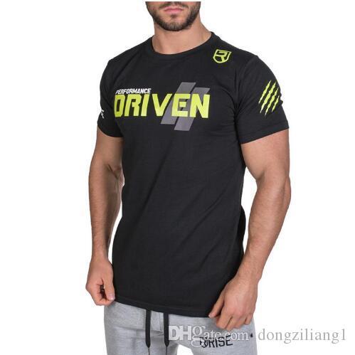 New Design T-Shirts Summer Sporting T-shirt Men Short sleeve Fitness T shirt Mens printing gyms Bodybuilding T-shirt