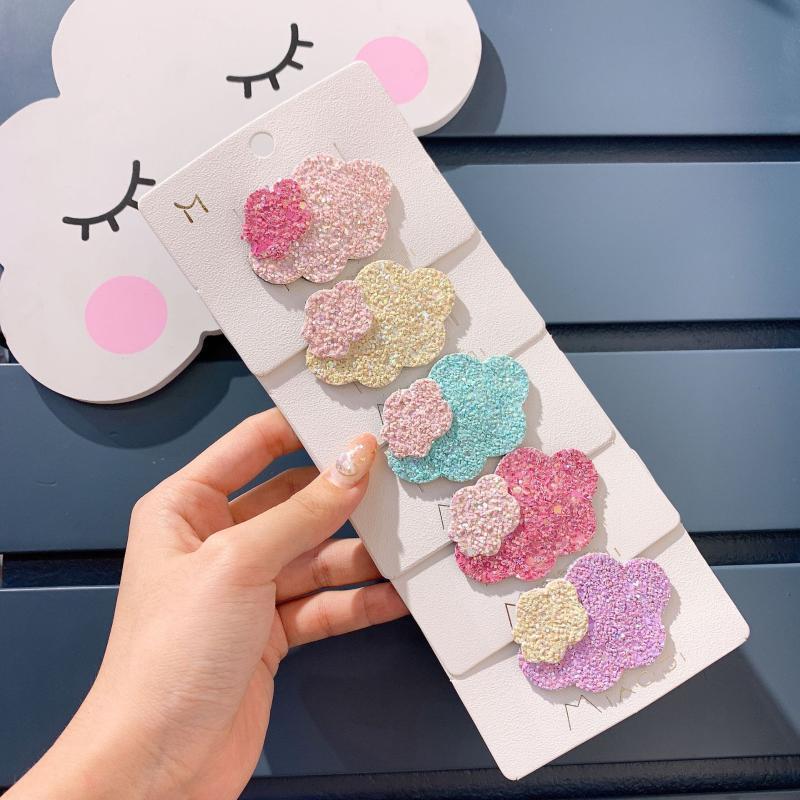 10pcs ins clips de moda nuvem bonito snap Macron cartoon cor Barrettes Princesa Headwear Boutique Acessórios de cabelo