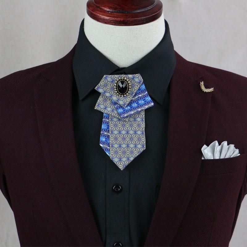 Özgün Tasarım Erkekler Performans Bow Tie Yüksek uç Moda Sahte Kravat Kore Moda Trend Yıldız Kravat Yılbaşı Hediyeleri Bow Kravatlar