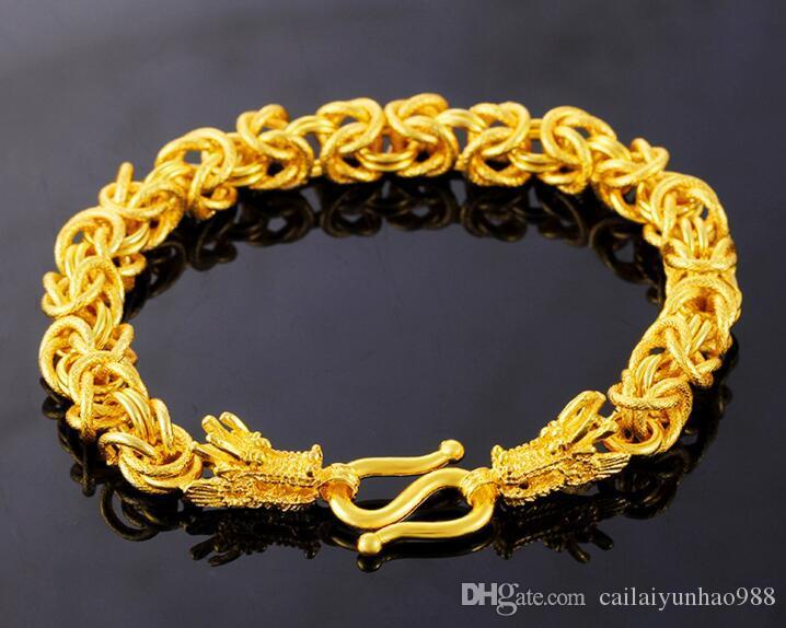 Pulseira de homem pulseira de bibcock Pulseira de homem pulseira de ouro 18k