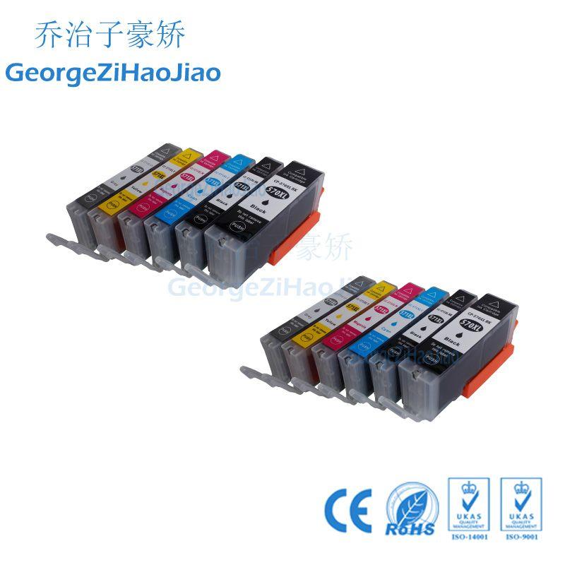 ZH 12 ADET Mürekkep Kartuşları 570XL 571XL Canon PGI570 CLI571 için Uyumlu Pixma Set MG5752 MG5753 MG5750 MG5751 Yazıcı