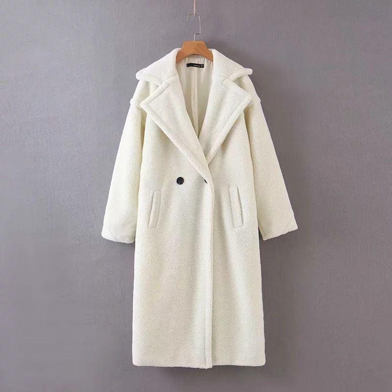 Donne Faux Fur Coat 2019 Autunno Inverno Dee lungo Teddy cappotto lampada Pelliccia granulare di velluto Warm addensare cappotto T200506