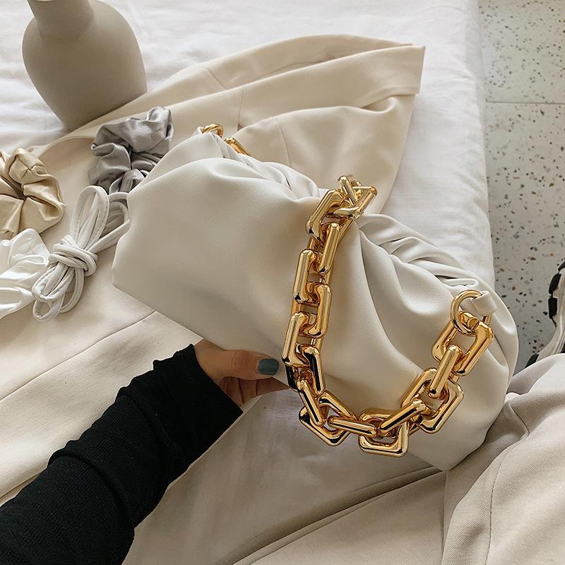 여성 핸드백 2020 핫 유행 패션 Brandcasual의 간단한 메신저 가방 여성 솔리드 체인 크로스 바디 어깨 겨드랑이