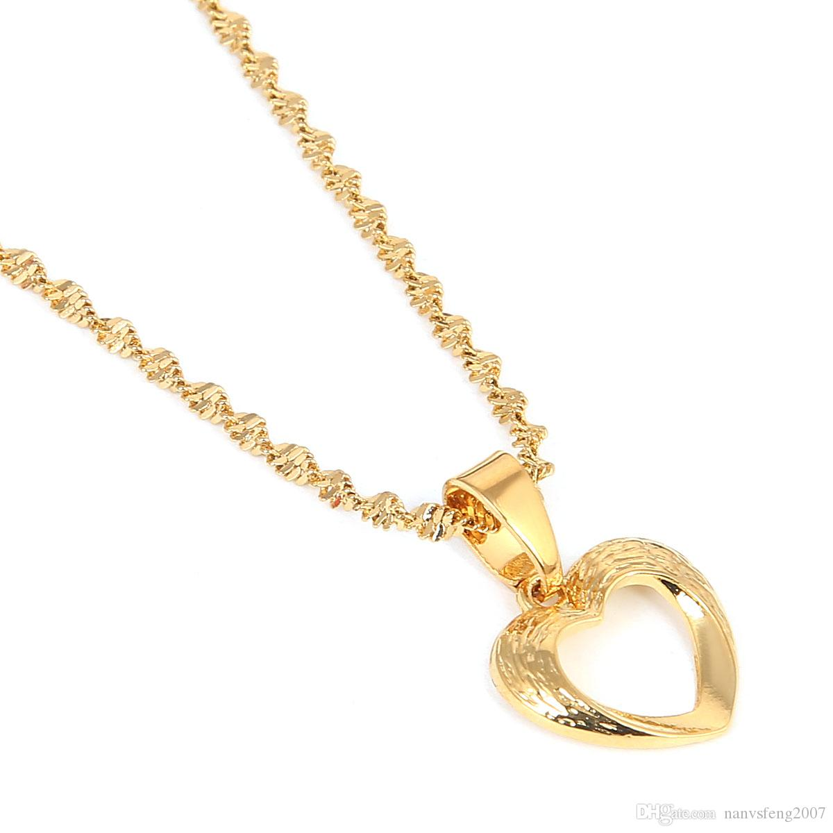 Heart Pendant Necklaces Romantic Jewelry for Women Girls Wedding Gift Girlfriend Wife Gifts