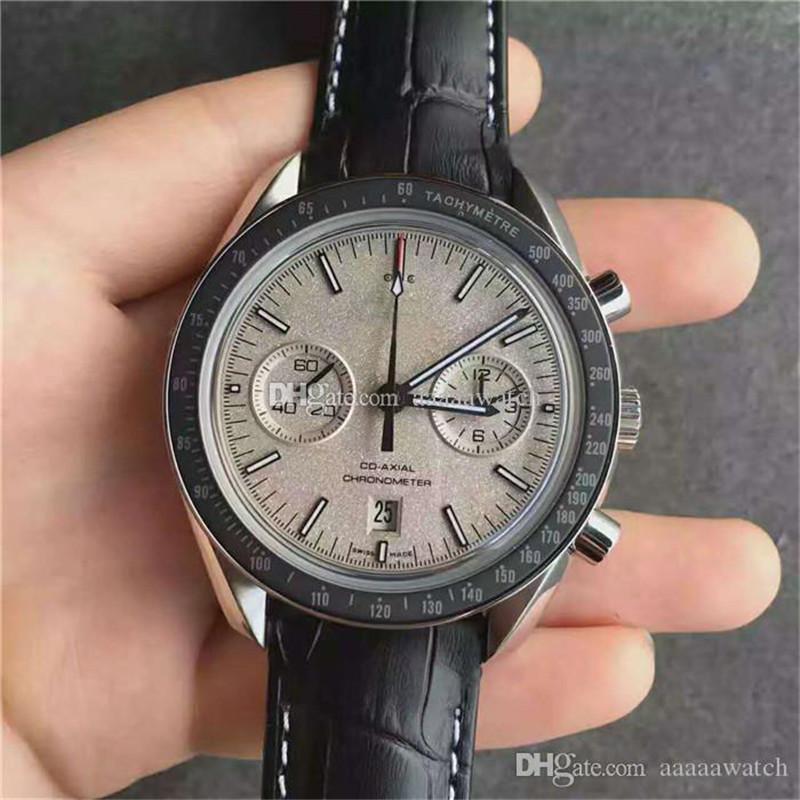 JH Новые наручные часы Swiss 9300 Автоматический хронограф 28800vph Мужские часы сапфировое PVD покрытие углерода из нержавеющей стали 316L