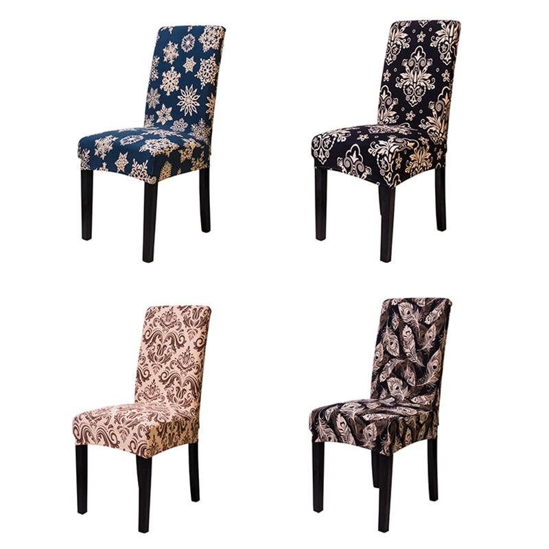 Spandex Stretch Dining Wedding Chair Covers Elastic Anti-dirty Kitchen Seat Case for Banquet Dining Chair Slipcovers
