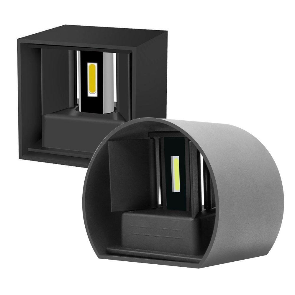 12W Moderno Breve roundcube superficie ajustable montado en la pared de luz LED impermeable al aire libre lámpara de pared de la lámpara Para Corredor Porche