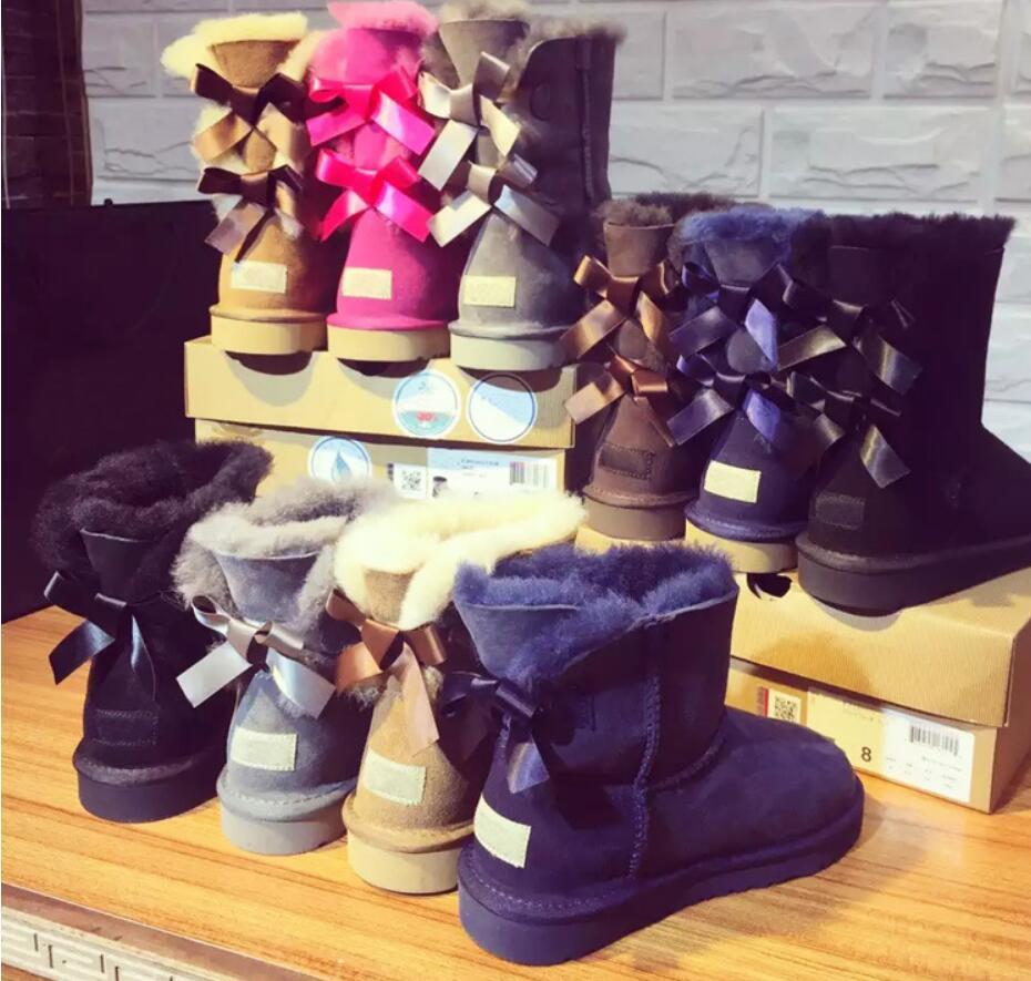 2021 di New WGG donne in Australia classici stivali alti stivali delle donne della ragazza della neve invernali scarpe fucsia nero blu rosso dimensioni scarpe di cuoio 36-41