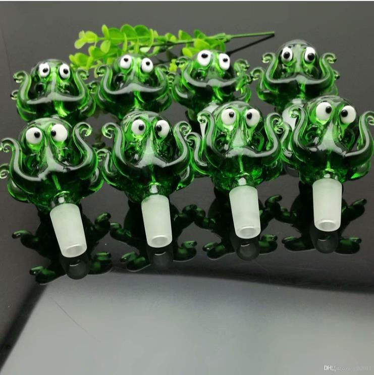Bolha verde Octopus vidro tubulações principais Atacado água Vidro Tabaco acessórios de vidro Ash Catche
