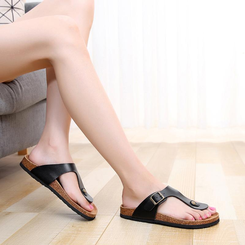 2020 billig Großhandel Einzelhandel Sommer-Strand-Frauen-Cork Slipper beliebt beiläufige bequeme unisex Slides Schuh Herrenschuh hohe Qualität
