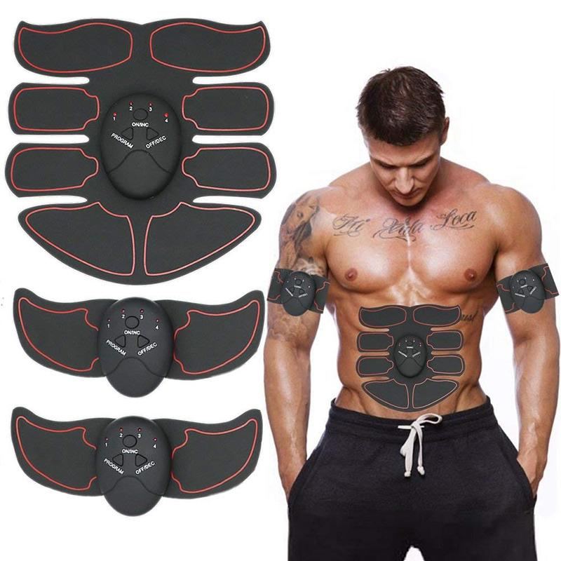 Abdominal Muscle Trainer Electronic Muscle Exerciser Machine Fitness Toner Belly Arm Leg Exercise Toning Gear Fitness Equipment