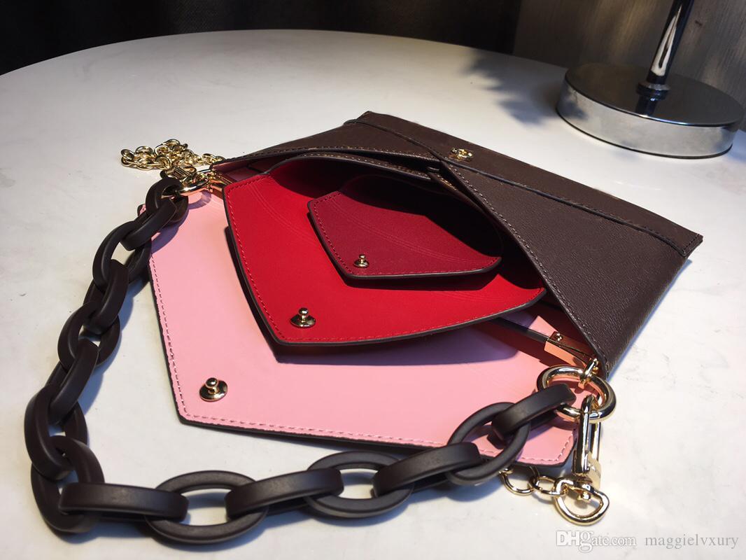 3 PCS أزياء النساء السيدات مصمم الكتف حقيبة حمل محفظة CROSSBODY حقيبة يد محفظة NEW كلاسيكي ROSALIE M60235 M62361
