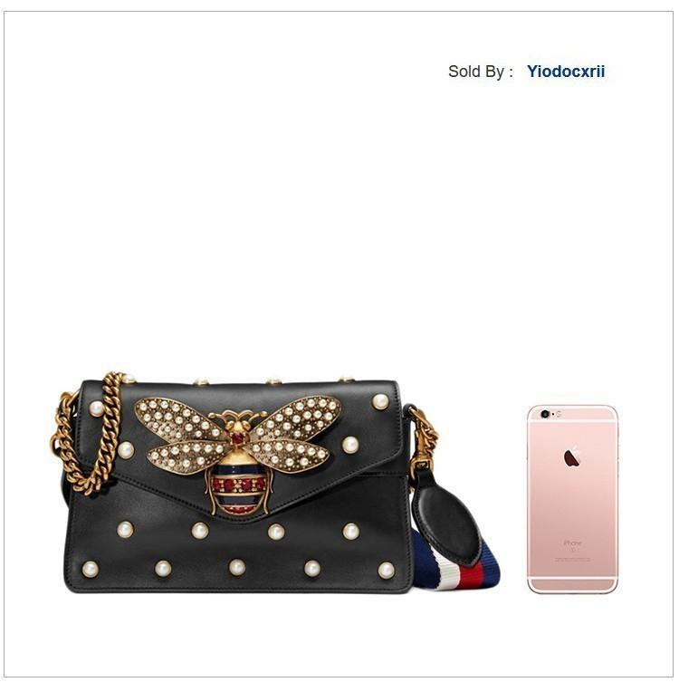 yiodocxrii 7V9X Leather Bee Messenger Bag Black Totes Handbags Shoulder Bags Backpacks Wallets Purse