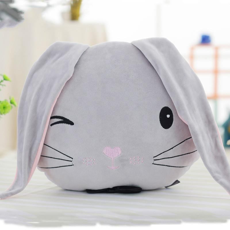 Cute Bunny Baby Pillow Plush Toys Kid's Room Decor Baby Bed Sleeping Accessories Pillow Children Photography Props