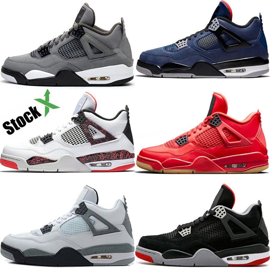 2020 zapatos de baloncesto Bred 14S 12S Concord gris oscuro 14S casquillo y vestido 4S Rojo Fuego 9S Rasta 4S deporte del Mens zapatillas de deporte # 889
