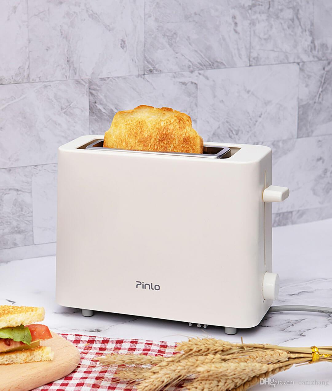 220V 500w White Multi-function toaster Bread machine maker PP material 6 gears time adjustment Oil-free baking 219x278x94mm