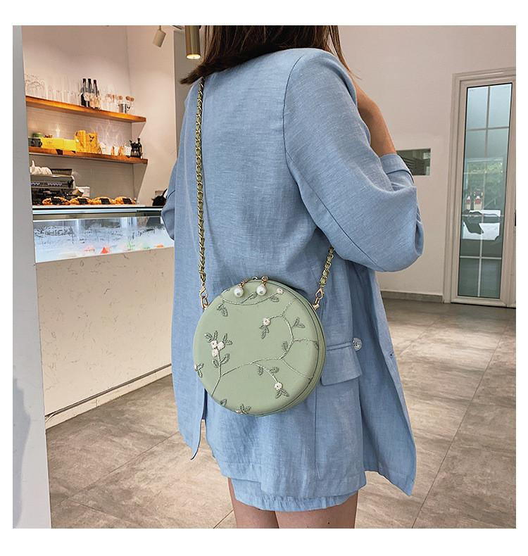 Verão New Mulheres Crossbody Bag pequena Lace sacos flor mensageiro para mulheres carteira Senhora bonito Rodada Cadeia saco Sling saco Whitehand Grande Capati