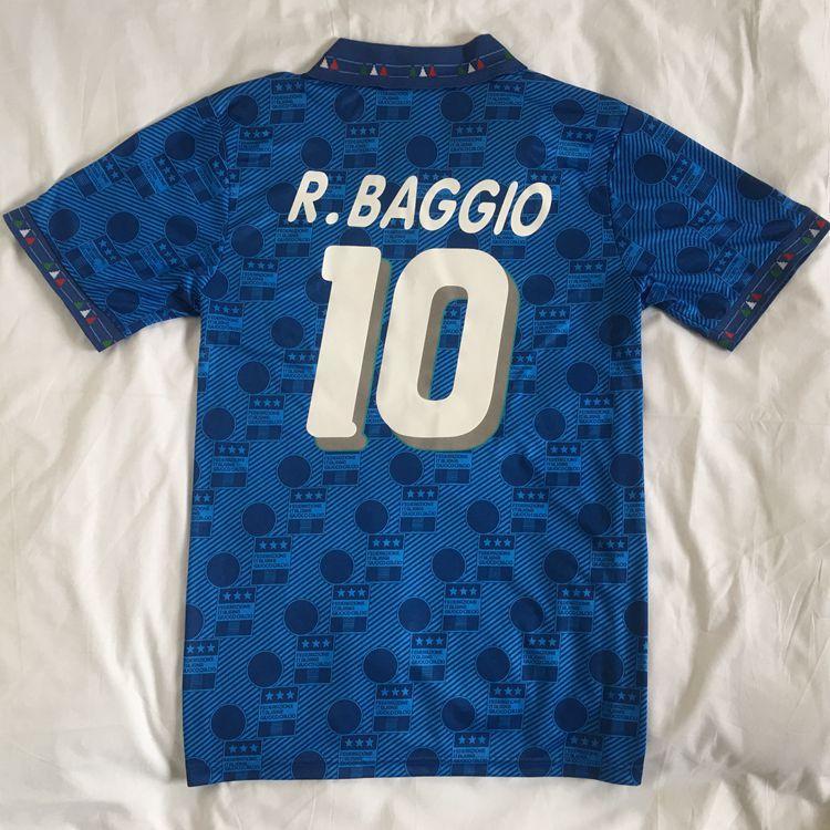 الرجعية 1994 إيطاليا Maglia Italia Maglie Star روبرت Baggio Maillot De Foot Survetement Thai Quality Soccer Jerseys A Thailand كرة القدم الفانيلة