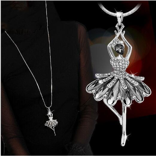 versione coreana del nuova collana di cristallo della lega di modo collana di maglia balletto pendant665 gioielleria femminile