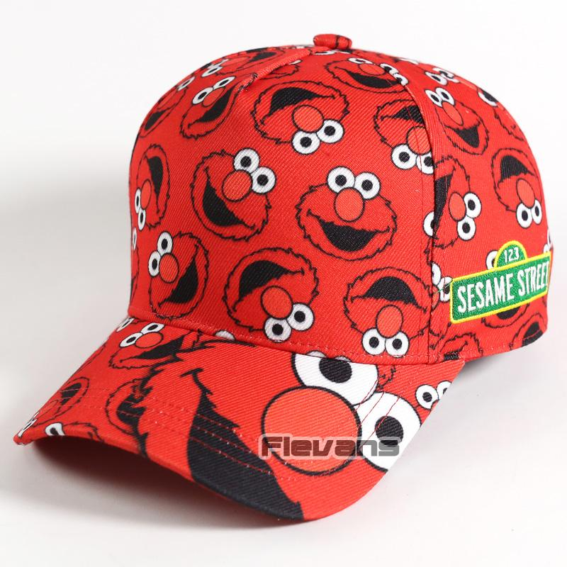 Summer Cool Funny Cap Sesame Street Elmo Cookie Monster Mens Boys Caps Baseball Hat Fashion Hats