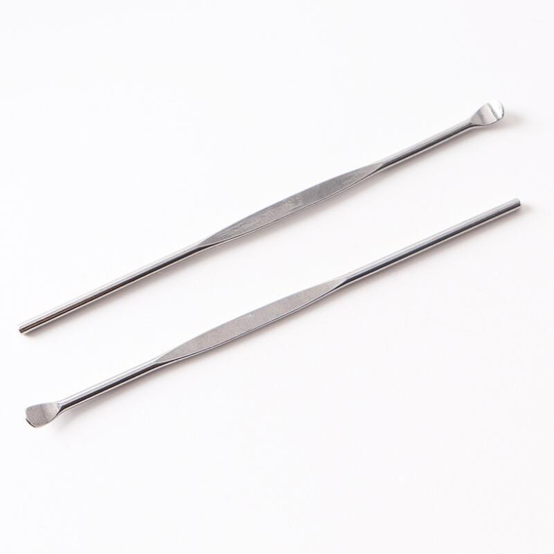 Ear Pioche poignée en acier inoxydable de cire d'oreille cérumen curette Remover outil de nettoyage, Earpick cuillère Nettoyage des soins de santé LX9023
