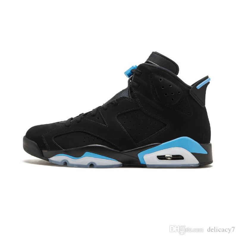 Bred 6 Pattini di pallacanestro PSG 6S UNC Nero Blu Bianco infrarossi Uomini Sport Blu Rosso Oreo Oreo Alternate Black Cat Sneakers 40-47