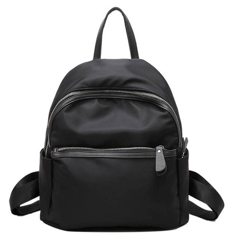 Nylon Mulheres mochila preta pequena escola estudante fresco saco da forma de Viagem fêmeas mochila para adolescentes meninas sacos de livro