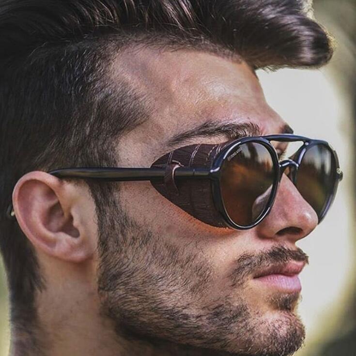 2020 Женщины Мужчины Круглый солнцезащитные очки Ретро Vintage UV400 вождения очки Муж Big рамка Lady Солнцезащитные очки Brand Designer Summer Стиль Солнцезащитные очки