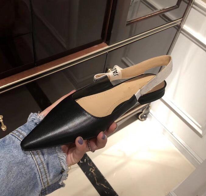 2019 heißer verkauf schuhe Ferse Marke Spitz zehen Designer Slingbacks Pumps Frauen Spitze Sandalen High Heels Damen Schuhe Elegante schwarze bankett schuhe