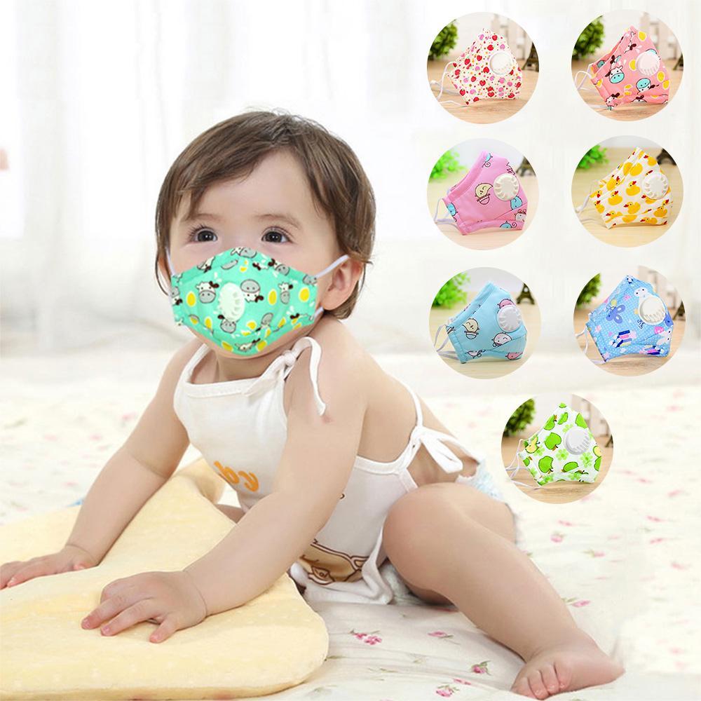 Máscara de los niños de la boca de la respiración del cojín niños Válvula anti Haze transpirable máscara anti-polvo de la boca de mufla mascarillas niños