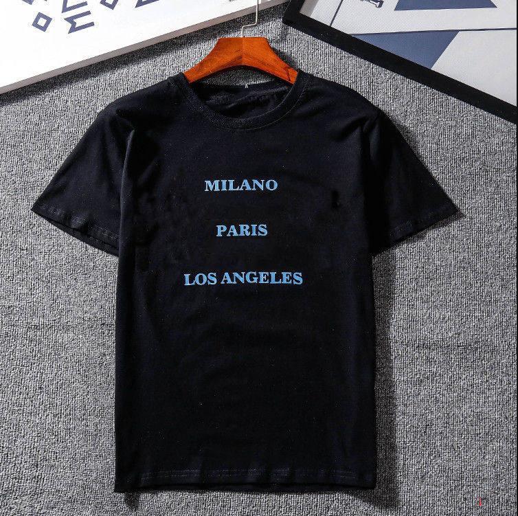 Para mujer Camiseta para hombre con la marca de impresión de letras asiática Diseñador Tamaño tapa de la manera camisetas de manga corta de la camiseta ocasional S-2XL XY1881701